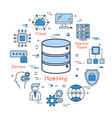 internet hosting and secure file storage vector image