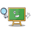 detective chalk board character cartoon vector image