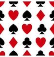 Casino poker seamless pattern vector image