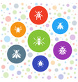 7 beetle icons vector image vector image