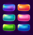 abstract game buttons design elements without text vector image