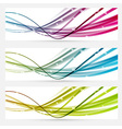 Abstract line bright web banners headers vector image vector image