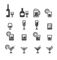 alcohol drink icon vector image