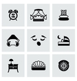 Bed icon set vector image vector image