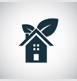 bio home icon simple flat element concept design vector image