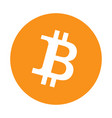 bitcoin logo on white background vector image vector image