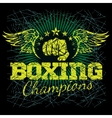 Boxing labels on grunge background vector image vector image