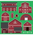 Buildings set with farm vector image vector image