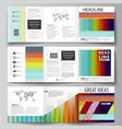 business templates for tri fold square brochures vector image vector image