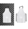 chef cook or baker white apron with black strings vector image vector image