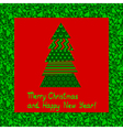 christmas card 5 vector image vector image
