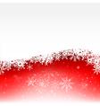 Christmas snowflake and starlight abstract vector image vector image