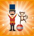 circus presenter with monkey vector image
