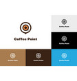 coffee point logo vector image vector image