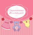 Congratsits baby girl vector image vector image
