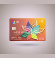 credit card design with shadow detailed abstract vector image vector image