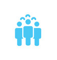 crowd of people icon silhouettes social icon vector image vector image