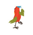 cute funny bird cartoon character with bright vector image vector image