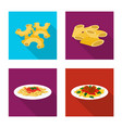 design of pasta and carbohydrate symbol vector image
