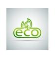 Eco logo vector image