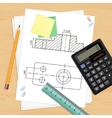 Engineer workplace vector image