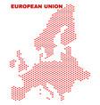 European union map - mosaic of heart hearts