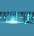 evil king castle throne room cartoon vector image vector image
