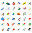 fast career icons set isometric style vector image vector image
