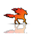 fire horse-animal vector image vector image