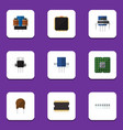 flat icon appliance set of memory unit vector image vector image