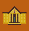 flat shading style icon courthouse vector image vector image