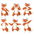 fox character dance position vector image vector image