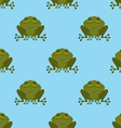 Frog in water seamless pattern Blue Lake and Green vector image vector image