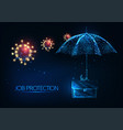 futuristic job protection during coronavirus vector image vector image