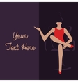 graphic template to put your text here girl vector image vector image