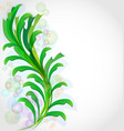 green leaf plant background vector image
