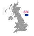grey political map uk vector image vector image
