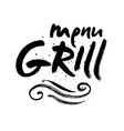 Grill lettering Background Modern vector image