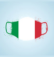 grunge italy flag safety breathing mask vector image vector image