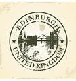Grunge rubber stamp with Edinburgh United Kingdom vector image vector image