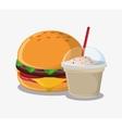 Hamburger fast and carnival food design vector image vector image