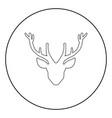 head deer icon black color in circle vector image vector image