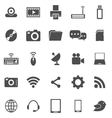 Hi tech icons on white background vector image vector image