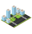 isometric city part vector image