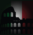 italy flag with sign vector image vector image