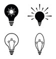 light icon set vector image