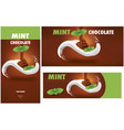 milk tongue chocolate mint package vector image vector image
