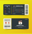 modern cinema movie tickets design vector image vector image