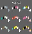 nail designs templates vector image