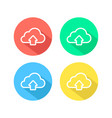 outline upload simple cloud icon vector image